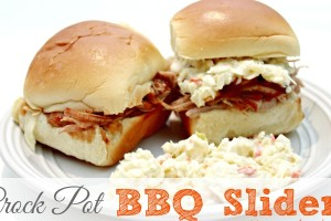 Simple Crock Pot BBQ Sliders