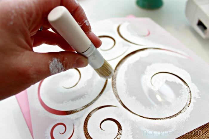 Stencil a Burlap Gift Bag #shop