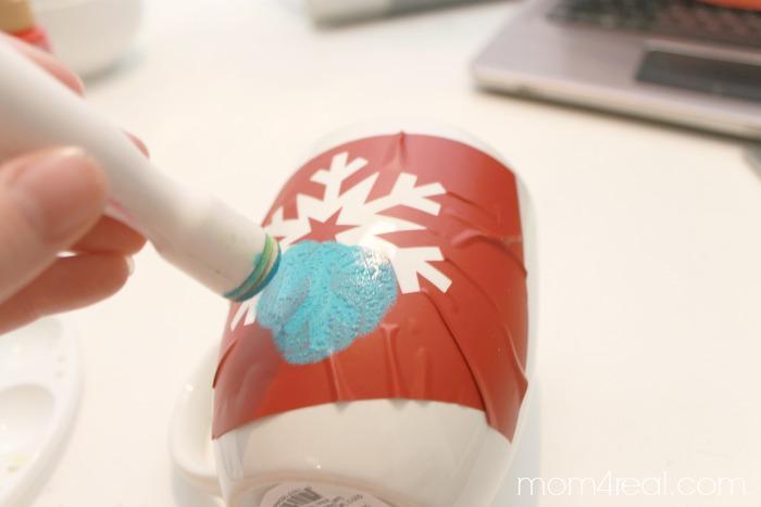 Stencil a Hot Chocolate Mug   #shop