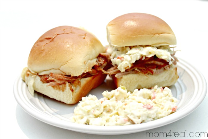 Super Easy Crock Pot or Slow Cooker BBQ Sliders ( Pulled Pork Barbeque )