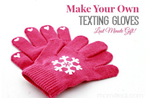 DIY Texting Gloves – Last Minute Gift Idea!