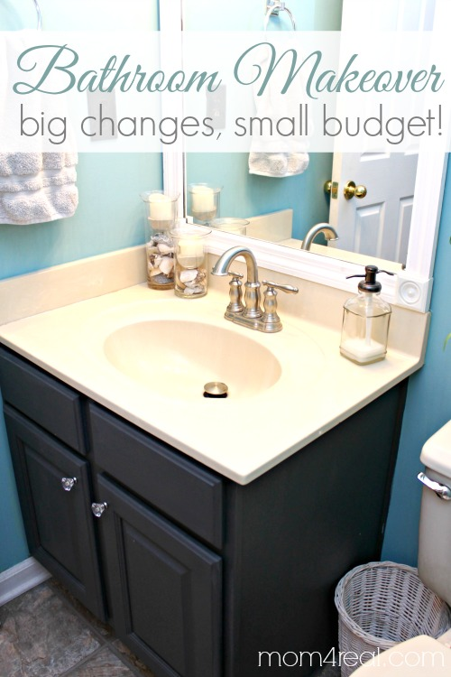 Economical Bathroom Makeovers budget bathroom makeover - mom 4 real
