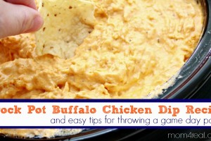 Crock Pot Buffalo Chicken Dip and Game Day Party Tips