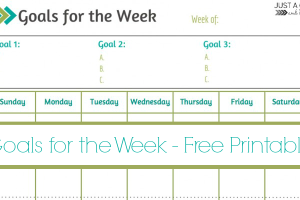 Weekly Goals Printable ~ Free Printable!