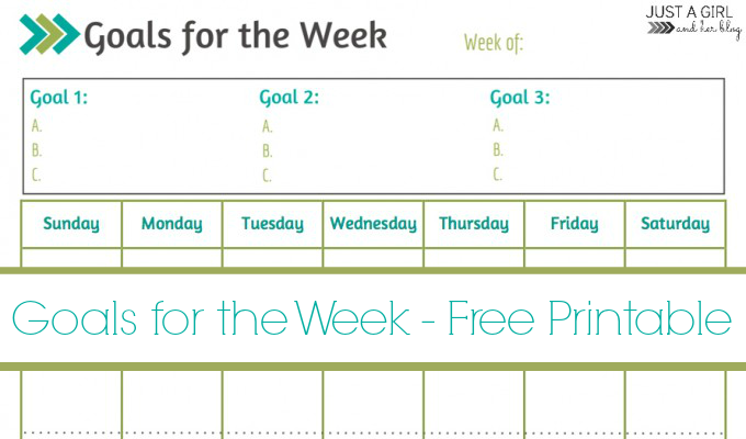 graphic regarding Goals Printable known as Weekly Aims Printable ~ No cost Printable! - Mother 4 Genuine