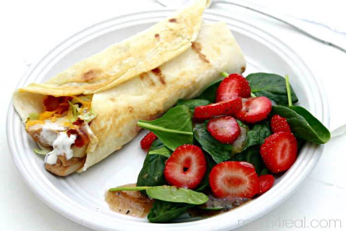 Grilled Chicken Ranch Wrap - Low Carb Recipes