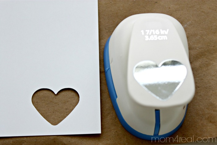 Make a stencil using a paper punch