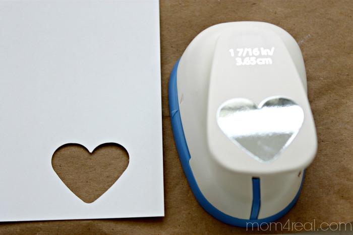 Make a stencil using a paper punch