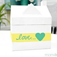 Paint a paper mache Valentine Gift Box