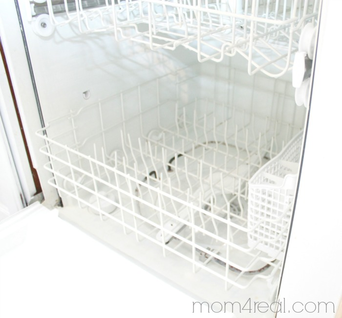 The easiest way to get a clean dishwasher
