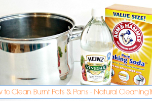 How To Clean Burnt Pots and Pans - Natural Cleaning Trick