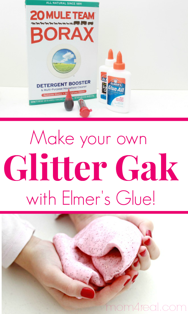 Make Your Own Glitter Gak Using Elmers Glue