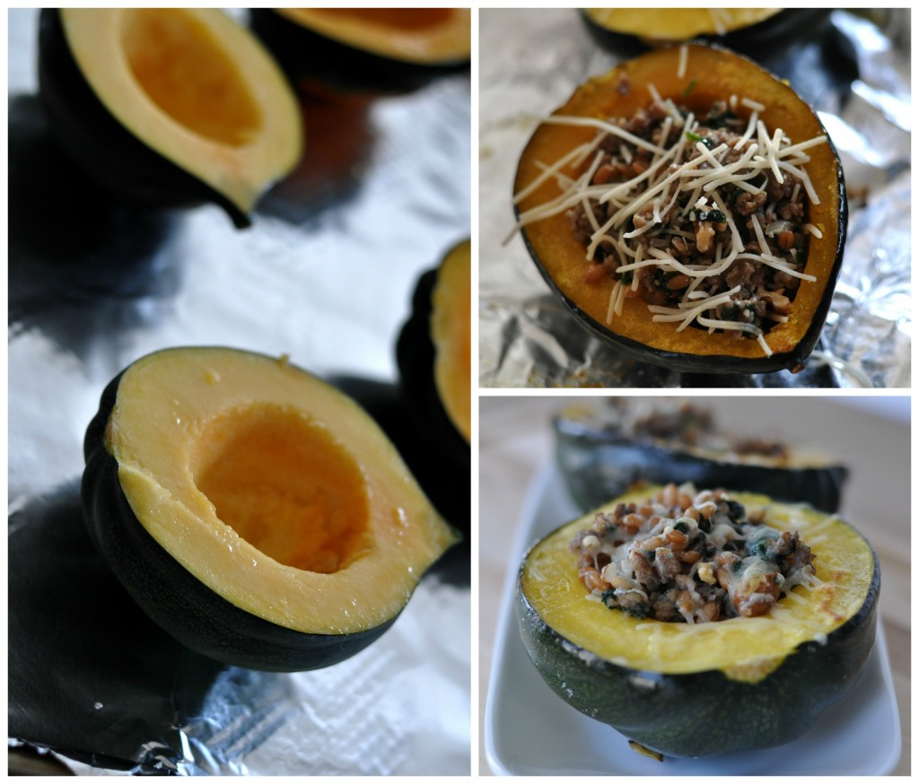Stuffed Squash Preparation Collage