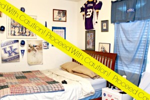 Teen Boy's Bedroom Makeover ~ The Before