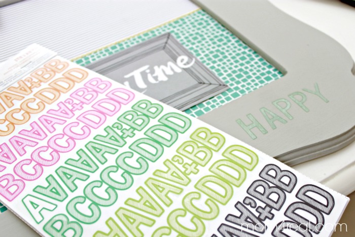 Amy Tangerine Letter Stickers