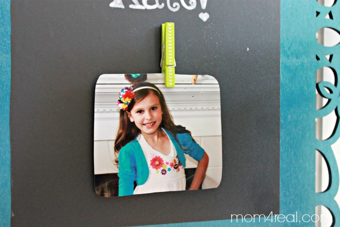 Birthday Chalkboard with Photo Clip for Personalization