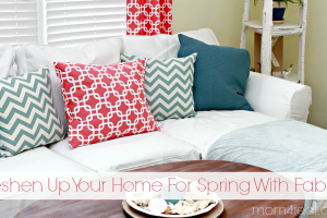 Freshen Up Your Home With Colorful Fabric!