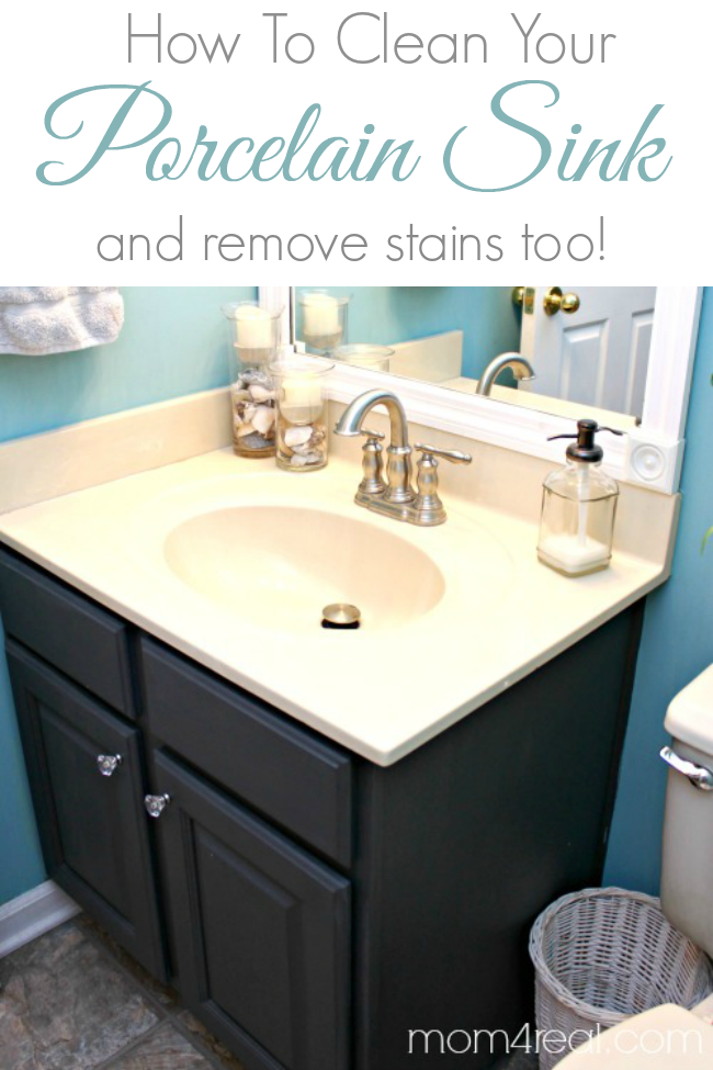 How To Get A Clean Porcelain Sink And Remove Rust Stains Too Mom - Remove stains from bathroom sink