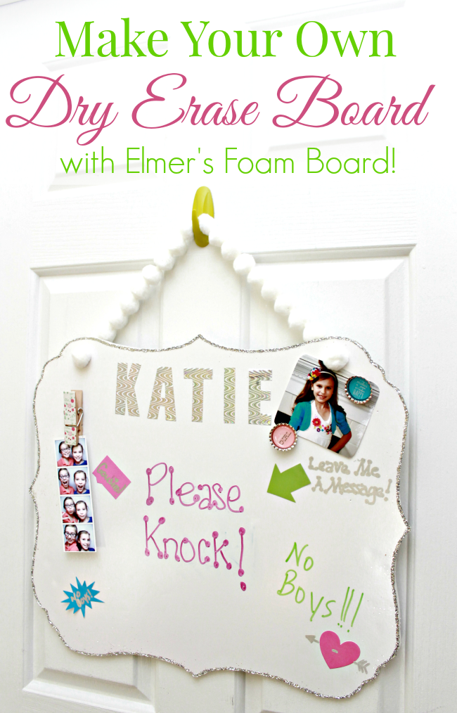 Make Your Own DIY Dry Erase Board with Elmers Foam Board