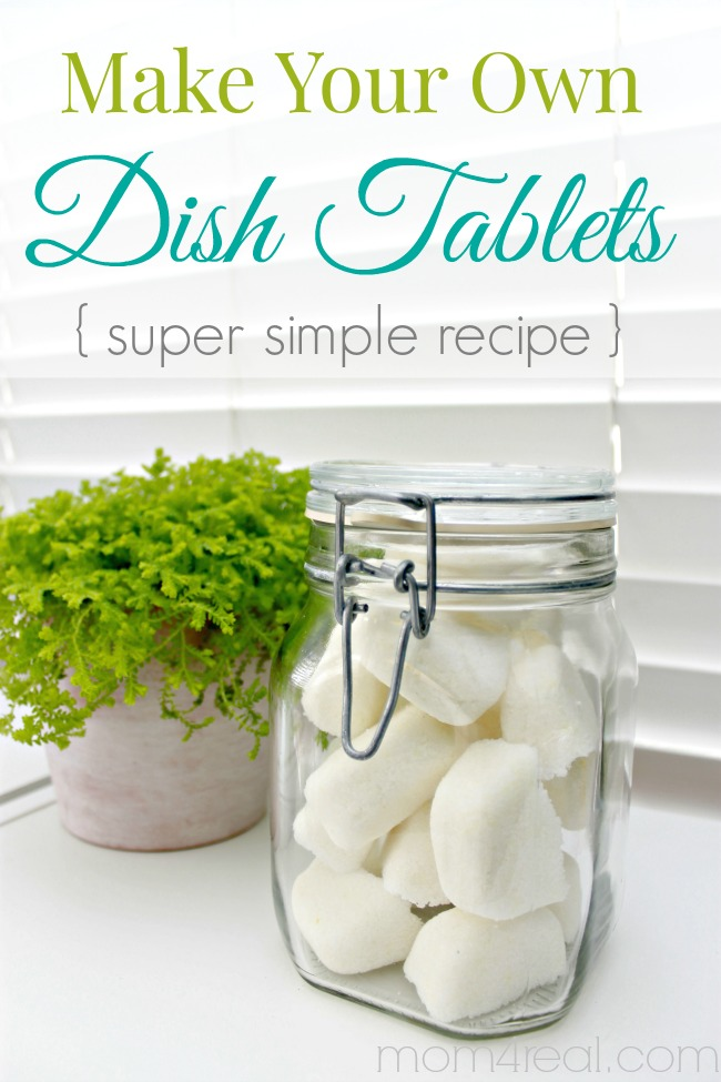 Homemade Dishwasher Tabs - Make Your Own Dishwasher Tablets or Dish Tabs - Super Simple Recipe