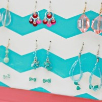Make Your Own Earring Storage Holder