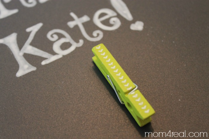 Make a birthday chalkboard with a photo clip