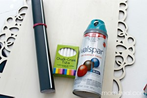 Make a reusable chalkboard - supplies