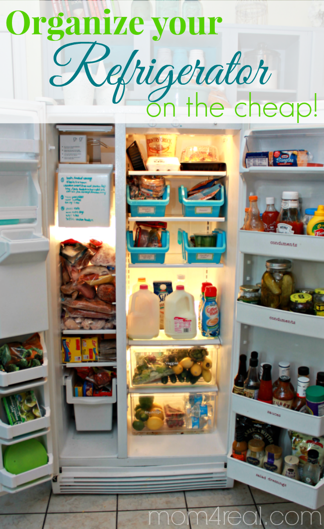Organize Your Refrigerator On The Cheap Mom 4 Real