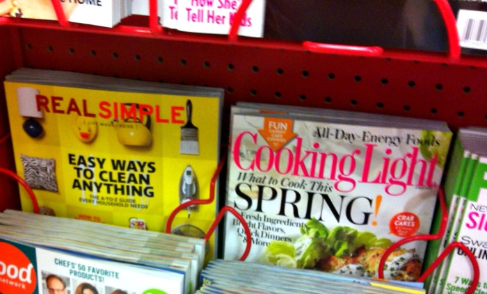 Real Simple Magazine and Cooking Light Magazine
