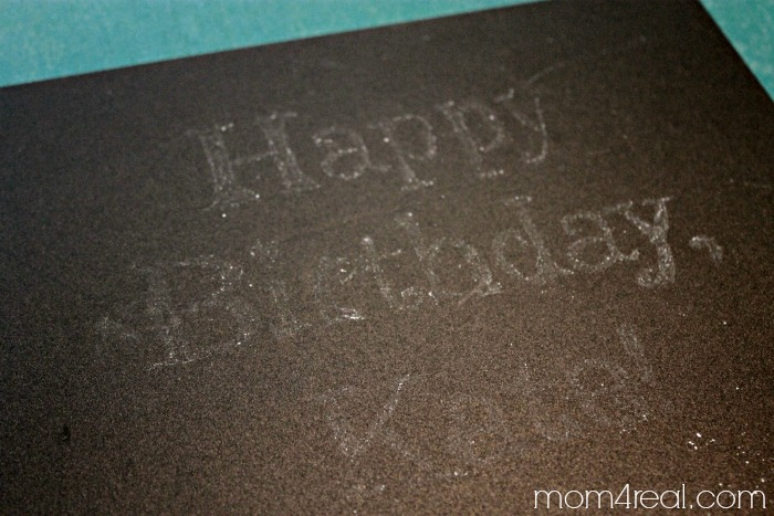 The trick to drawing on a chalkboard