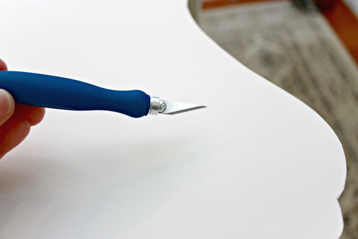 Use an xacto knife to easily cut foam board