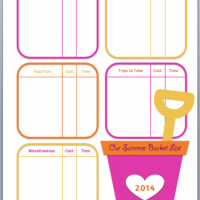 Summer Bucket List {with FREE printable!}