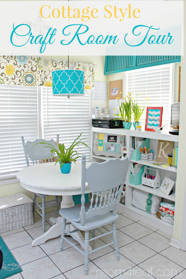My craft room tour more blogger tours mom 4 real - Craft room ideas for small spaces concept ...