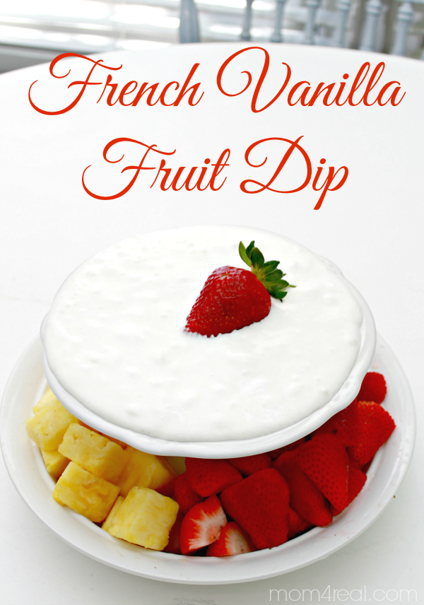 Easy French Vanilla Fruit Dip