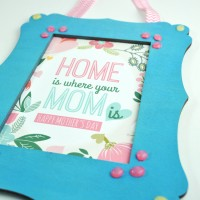 Mother's Day Frame with Homemade Enamel Dots + Free Printable