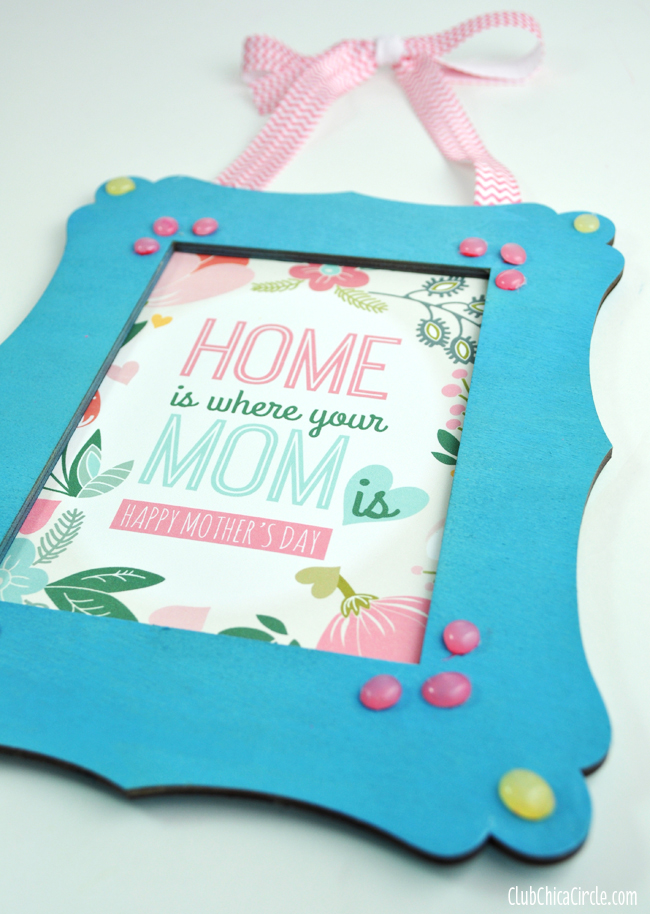 Mother 39 S Day Frame With Homemade Enamel Dots Free
