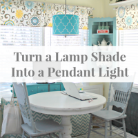 How To Turn A Lamp Shade Into A Pendant Light
