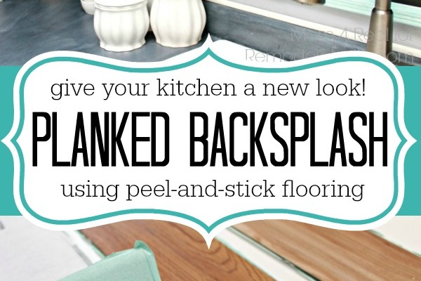 Inexpensive Backsplash Idea ~ Faux Plank Wall
