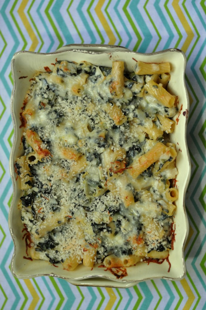 Spinach Artichoke Pasta Bake #recipes #pasta