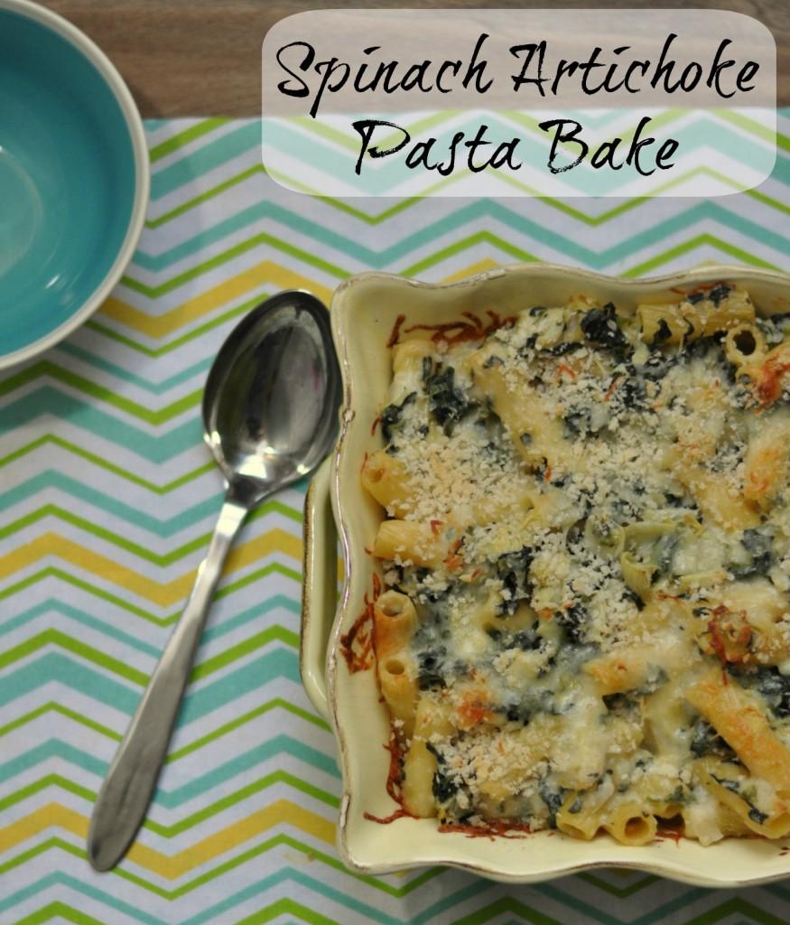 Spinach Artichoke Pasta Bake #recipes #pasta