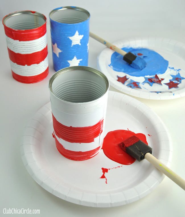 4th-of-July-upcycled-Flower-cans-step-3