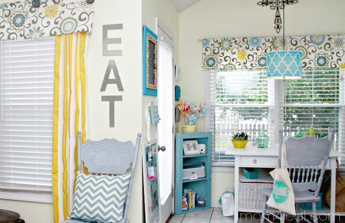 Aqua Yellow and Grey Decor
