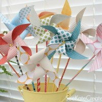 How To Make Paper Pinwheels & Kate's New Blog!