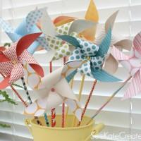 How To Make Paper Pinwheels & Kate's New Blog!
