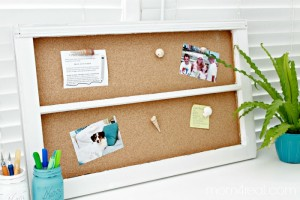 DIY Window Cork Board & Sea Shell Thumbtacks