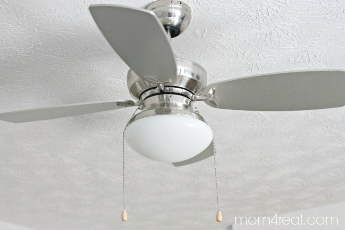 Modern Silver Ceiling Fan Teen Boys Bedroom Makeover