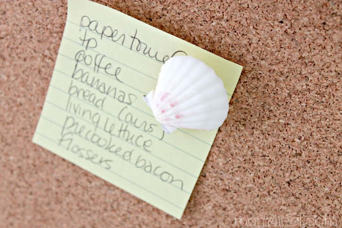 Seashell thumbtack DIY