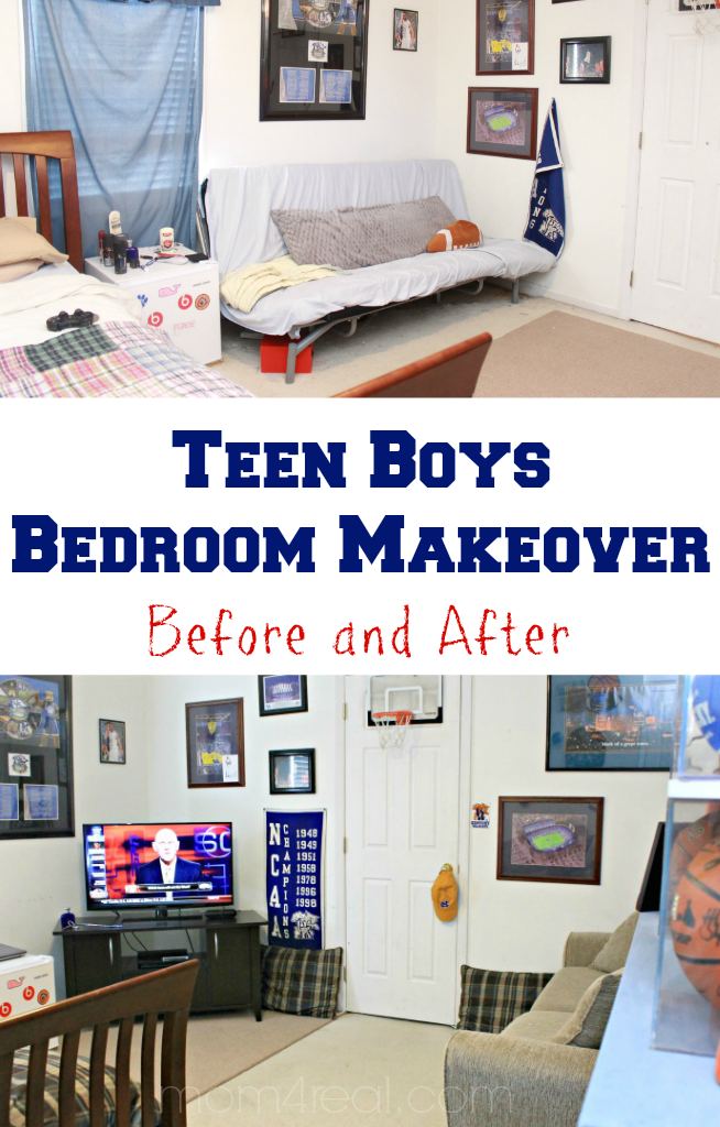 Cam\'s Teen Boys Bedroom / Hangout Room Makeover - Mom 4 Real