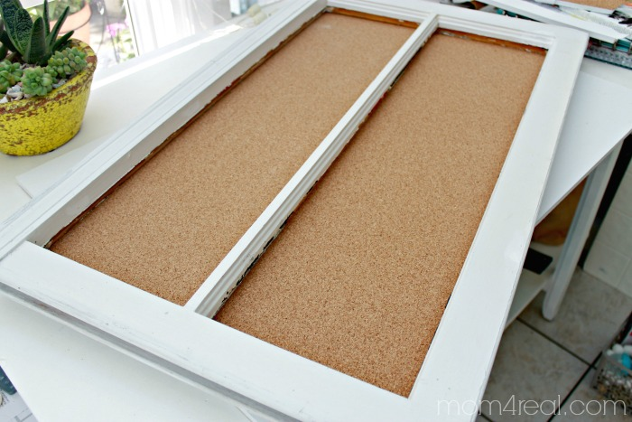 Window Turned Cork Board