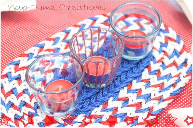 10 - Nap-Time Creations - July 4th Woven Centerpiece